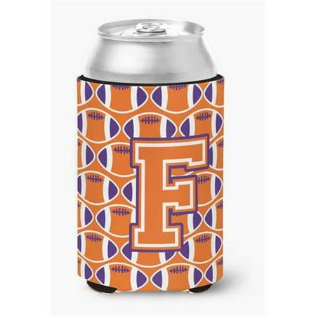 Letter F Football Orange, White & Regalia Can or Bottle Hugger - image 1 de 1