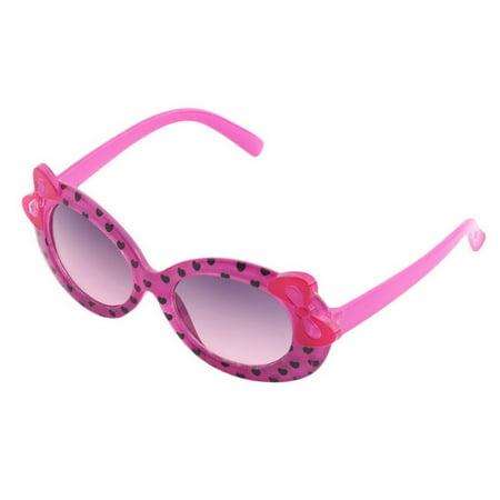 Durable Plastic Cute Baby Child Kids Children Fashion Casual Multicolor Cat Eye Bow Design Heart Print Sunglasses Glasses