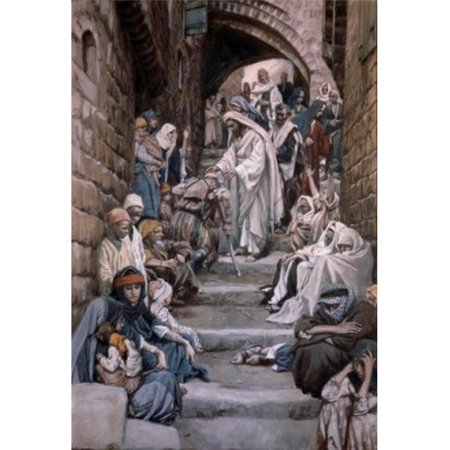 Posterazzi SAL9999978 All the City Was Gathered Together James Tissot 1836-1902 French Poster Print - 18 x 24 in.