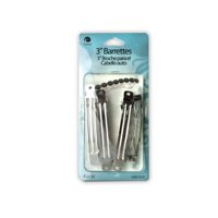 """(pack of 48) 3"""" Metal Barrette 4 Pieces by bulk buys"""
