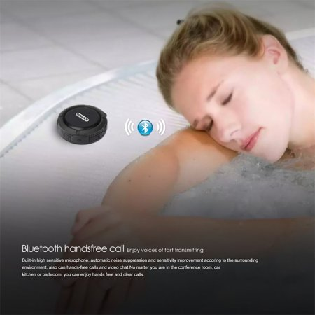 OCDAY C6 Plastic Portable Wireless Speaker With Calls Handsfree and Suction Cup Waterproof Shower Speaker - image 1 of 4
