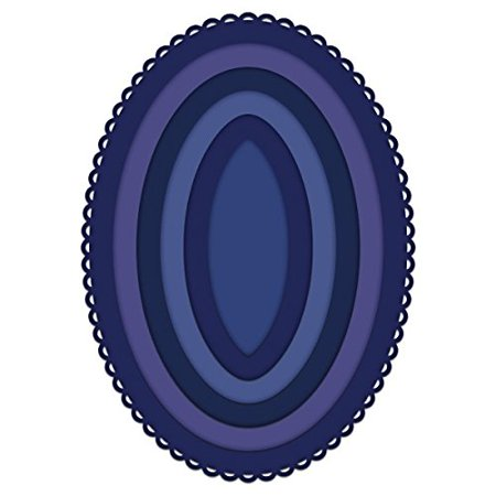 Oval Window Card (Die Set - Oval Basics Large - HCD1-7157, Create perfectly sized oval die cuts for scrapbook layouts or specialized card front windows with the Eyelet.., By Heartfelt)