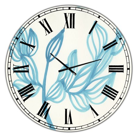 DesignArt Blooming Blue Large Wall Clock - image 2 of 2