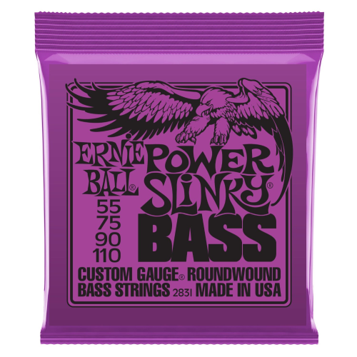 Ernie Ball Power Slinky Bass Strings, 55-110