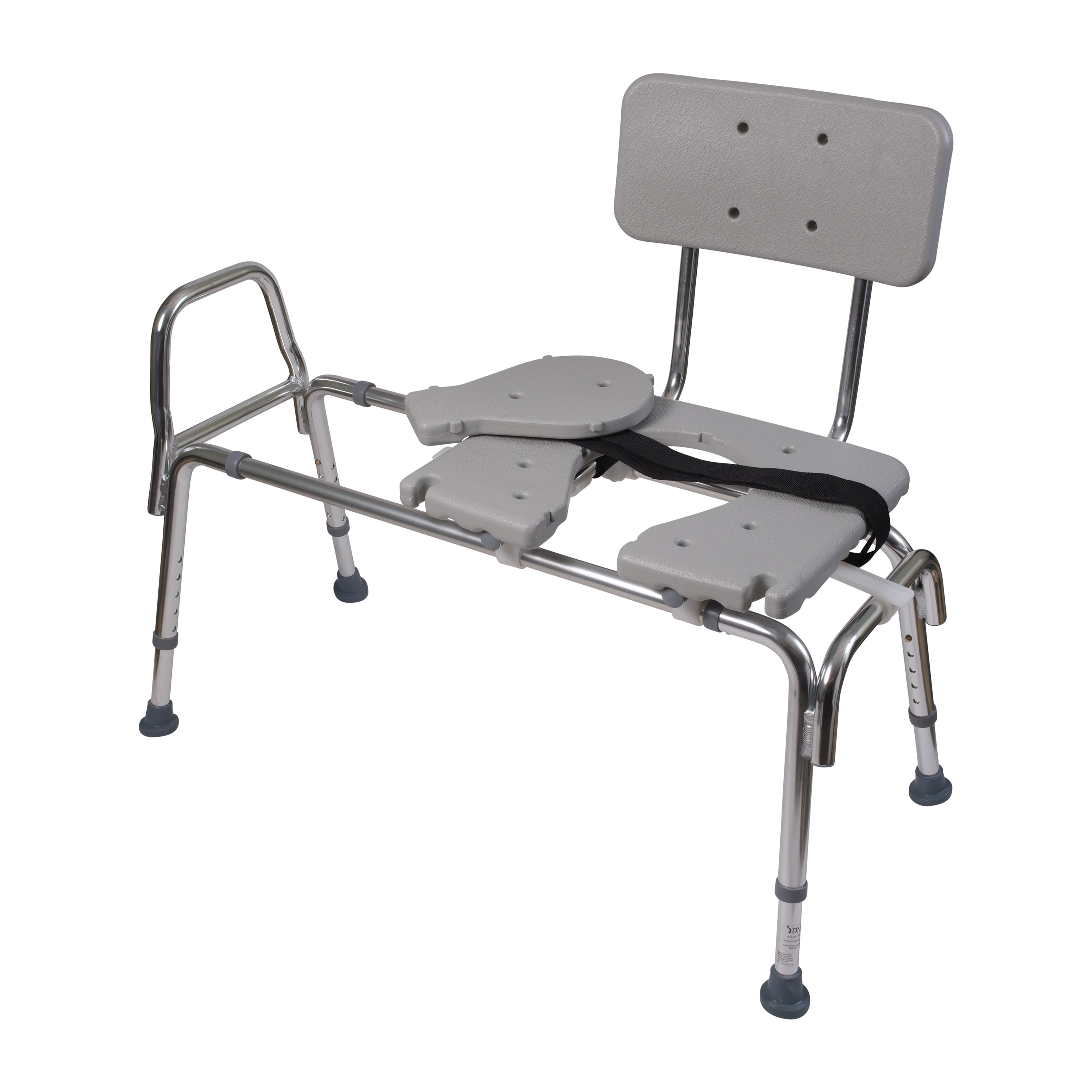 DMI Heavy-Duty Sliding Transfer Bench with Cut-Out Seat, 19-23\
