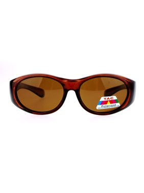 SA106 Kids Size 47mm Fit Over OTG Polarized Sunglasses Brown