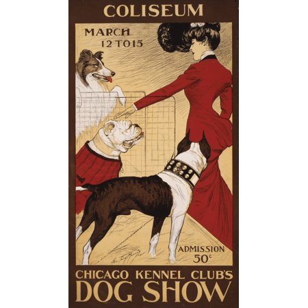Chicago Kennel Clubs dog show 1902 Stretched Canvas - George Ford Morris (18 x (Hot Dog Stand In Chicago Tv Show)
