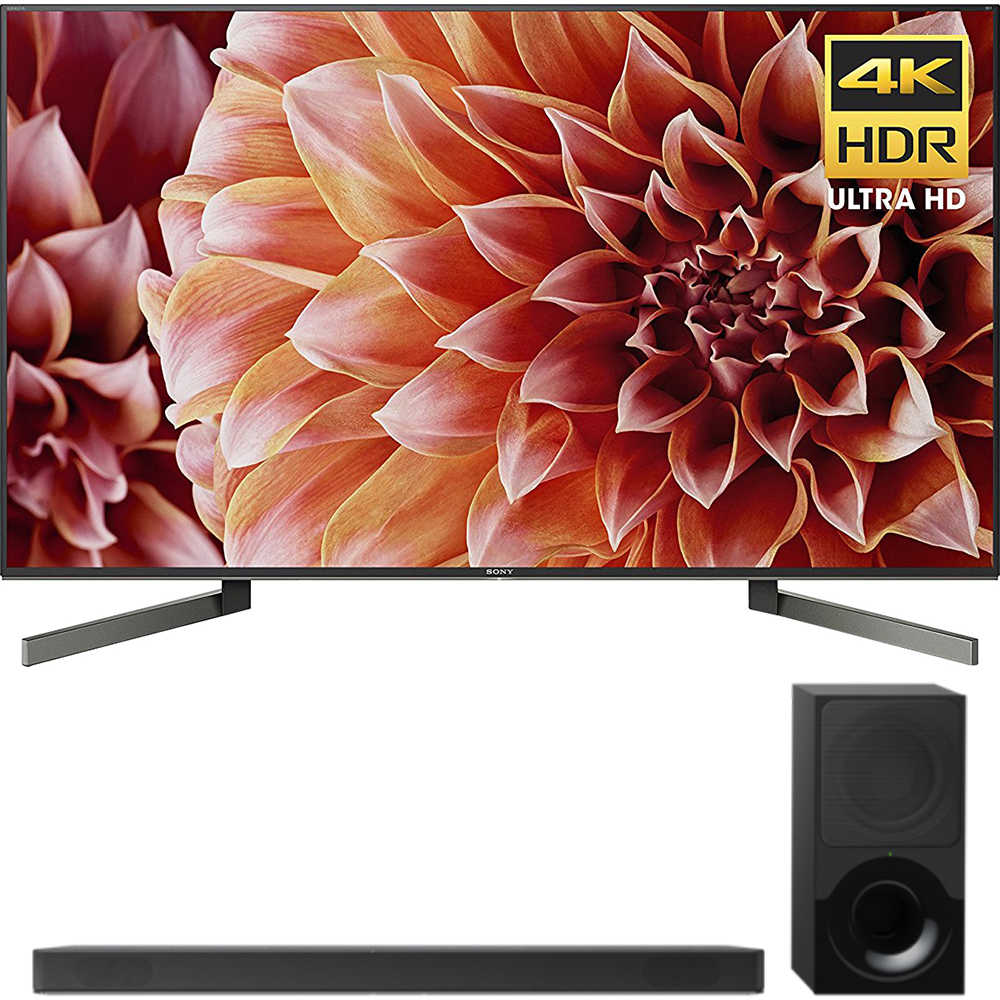 "Sony 75"" Class 4K Ultra HD (2160P) HDR Android Smart LED TV (XBR75X900F) with Sony 2.1ch Soundbar with Dolby Atmos"