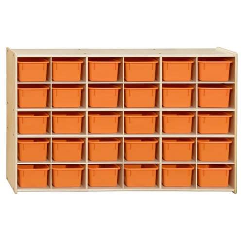 Wood Designs Contender 30 Compartment Cubby with Trays