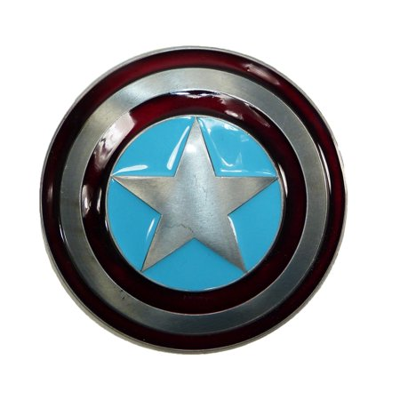 Marvel Avengers Captain America Shield Belt Buckle, Size: one size (Silver Filigree Buckle)