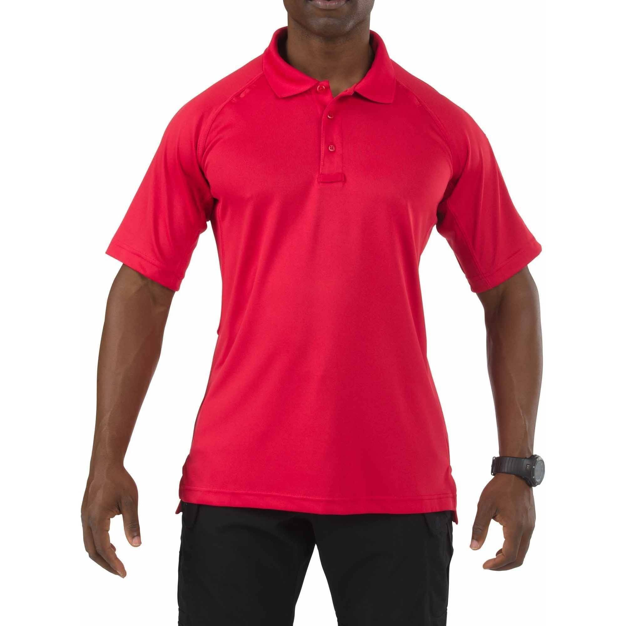 5.11 Tactical Performance Short Sleeve Polo Shirt, Range Red