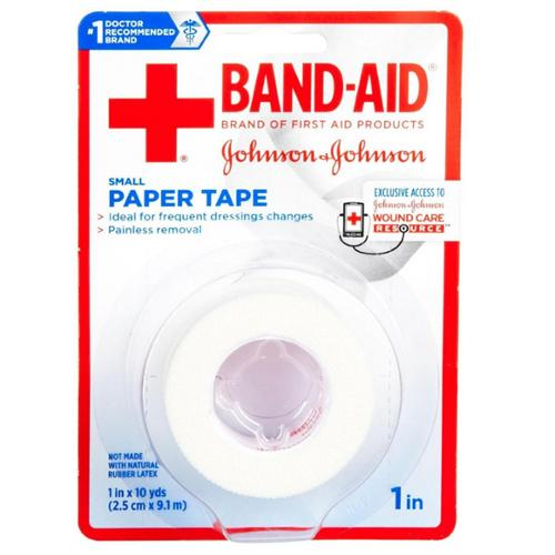 JOHNSON & JOHNSON BAND-AID First Aid Paper Tape 1 Inch X 10 Yards 10 Yards (Pack of 6)