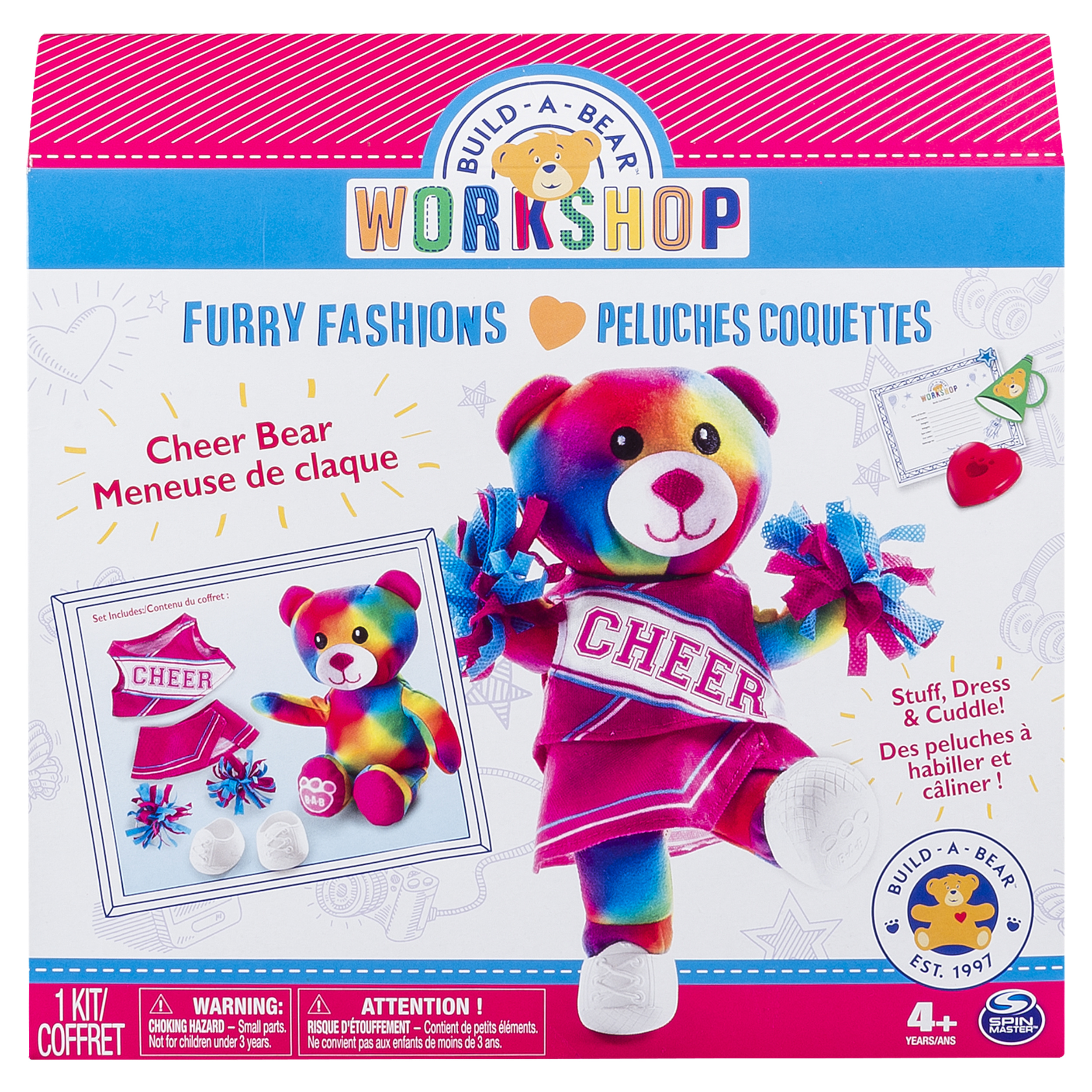 Build-A-Bear Workshop - Furry Fashions - Cheer Bear