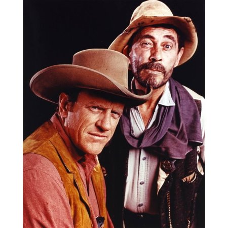 Gunsmoke Two Cowboy Outfit Portrait Print Wall Art By Movie Star News - Cowboys Cheerleading Outfit