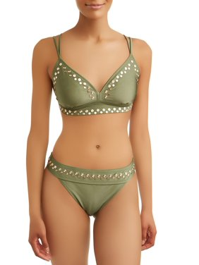 639230c571504 Product Image Womens Bayleaf Studded Swimsuit Top