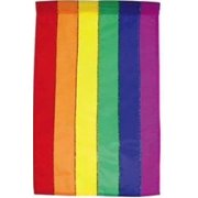 """Rainbow All-Occasion House Flag Applique Large Decorative Banner  28"""" x 44"""""""