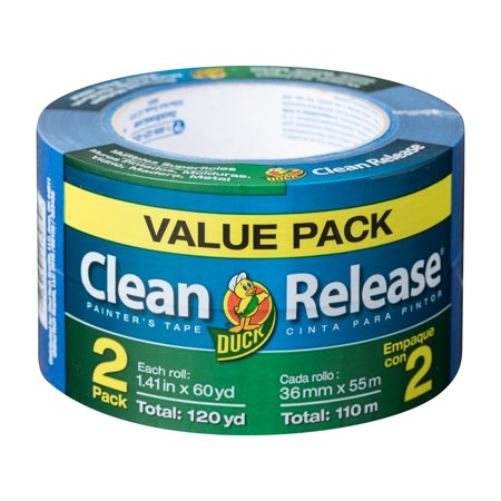 Duck Brand Clean Release Blue Painters Tape, 1.41 in. x 60 yd., 2-Pack