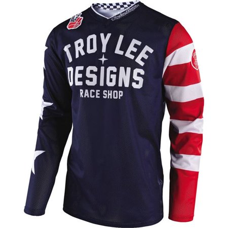 Troy Polamalu Signed Jersey - Troy Lee Designs GP Air Americana Vented Youth Motocross Jersey