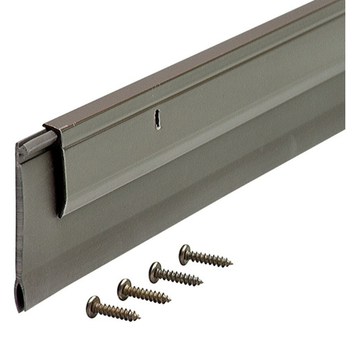 "M-D Products 05652 36"" Bronze Heavy-Duty Aluminum and Vinyl Door Sweep"