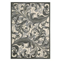"Nourison Graphic Illusions Floral Runner 2'3"" x 8'"
