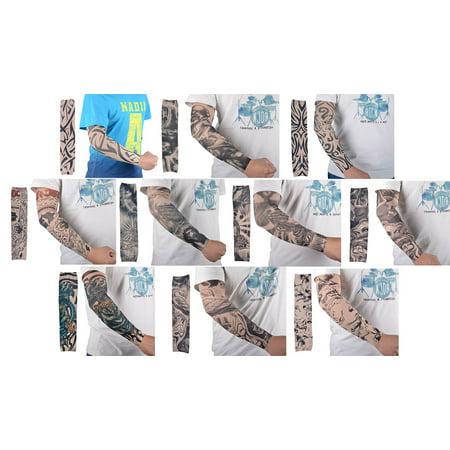 Simplicity Manches 10pc faux tatouage temporaire Body Art Bras Bas Accessoires Plaine