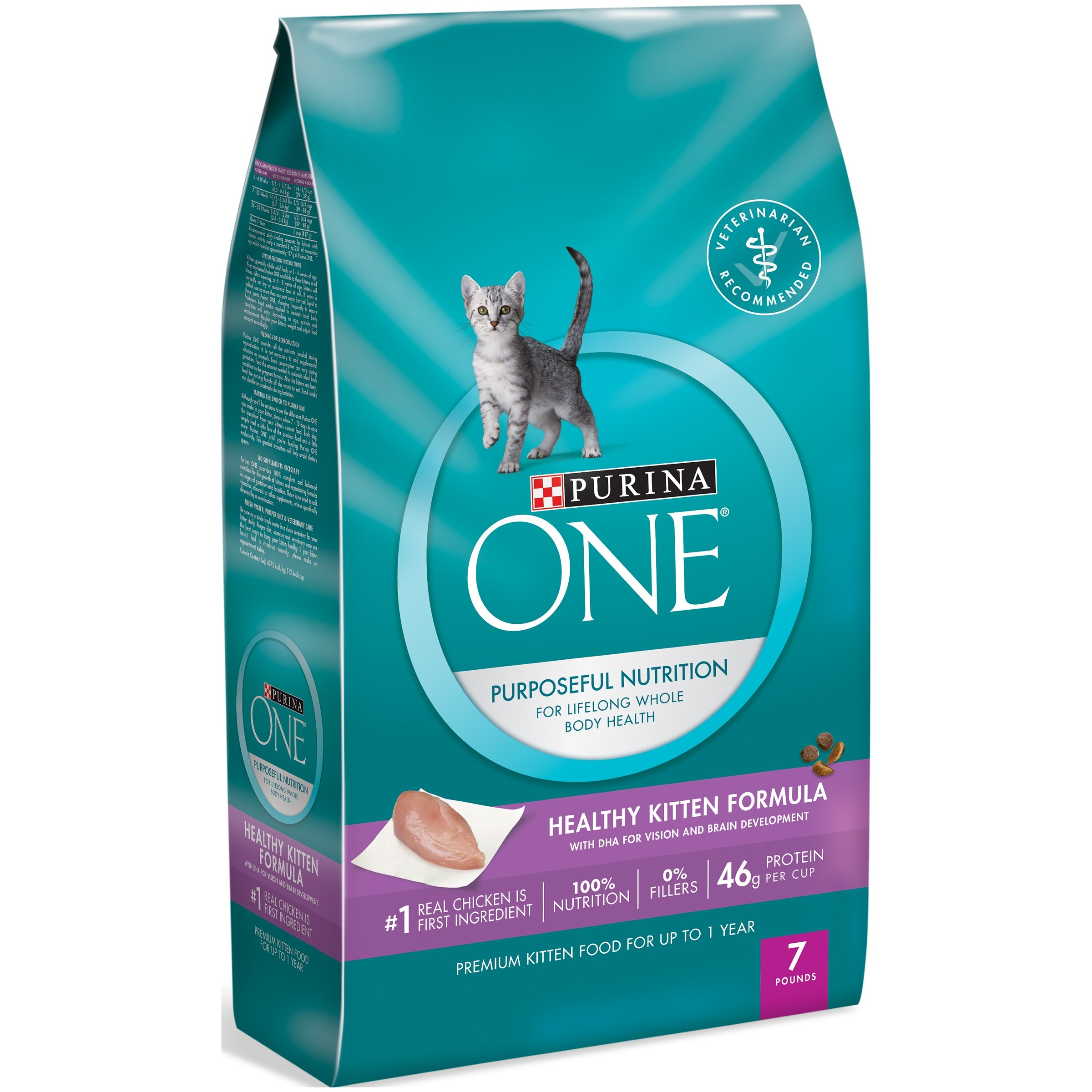 Purina ONE Healthy Kitten Formula Dry Kitten Food, 7 lb