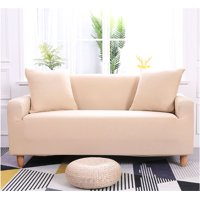 Sonew Elastic Sofa Slipcovers,1/2/3/4 SeatsSolid Color Chair Loveseat Couch Protector for Living Room Spandex Stretch Fabric Super Soft