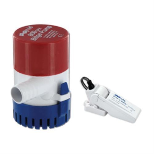 Rule 34530 800 GPH Round Non-Automatic Bilge Pump w/ -A-M...