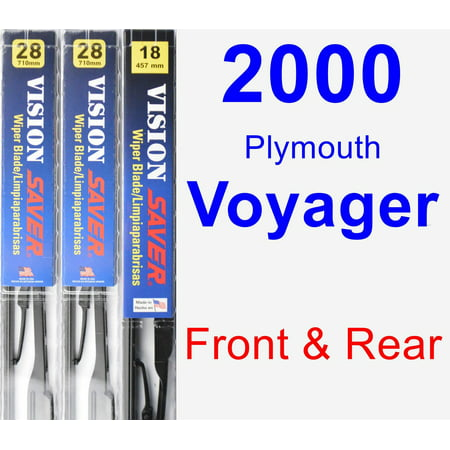 2000 Plymouth Voyager Wiper Blade Set/Kit (Front & Rear) (3 Blades) - Vision Saver