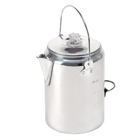 - Stansport 277 9 Cup Aluminum Camper's Percolator Coffee Pot
