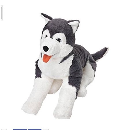 Ikea Soft Toy Husky Dog Siberian Stuffed Alaskan Malamute Eskimo Large, 7.88E+11 By - Eskimo Husky
