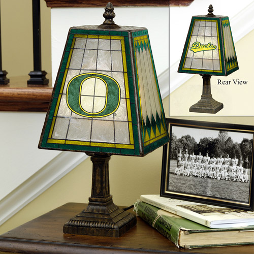 The Memory Company College 14'' Art Glass Table Lamp