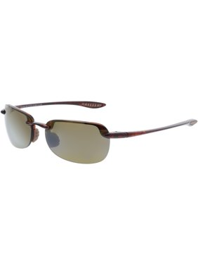 f7fa688ceef Product Image Maui Jim Men s Polarized Sandy Beach H408-10 Brown  Semi-Rimless Sunglasses