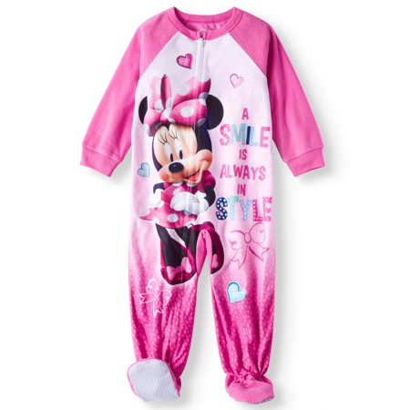 Minnie Mouse Microfleece Footed Blanket Sleeper (Toddler Girls) (Minnie Mouse Personalized Banner)
