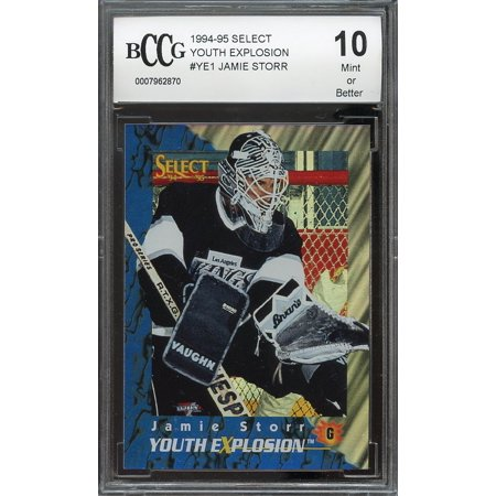 1994 95 Select Youth Explosion  Ye1 Jamie Storr Kings Rookie Bgs Bccg 10