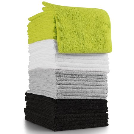 OxGord Cleaning Cloth Microfiber Rag Large Thick Bulk (Pack of 32)