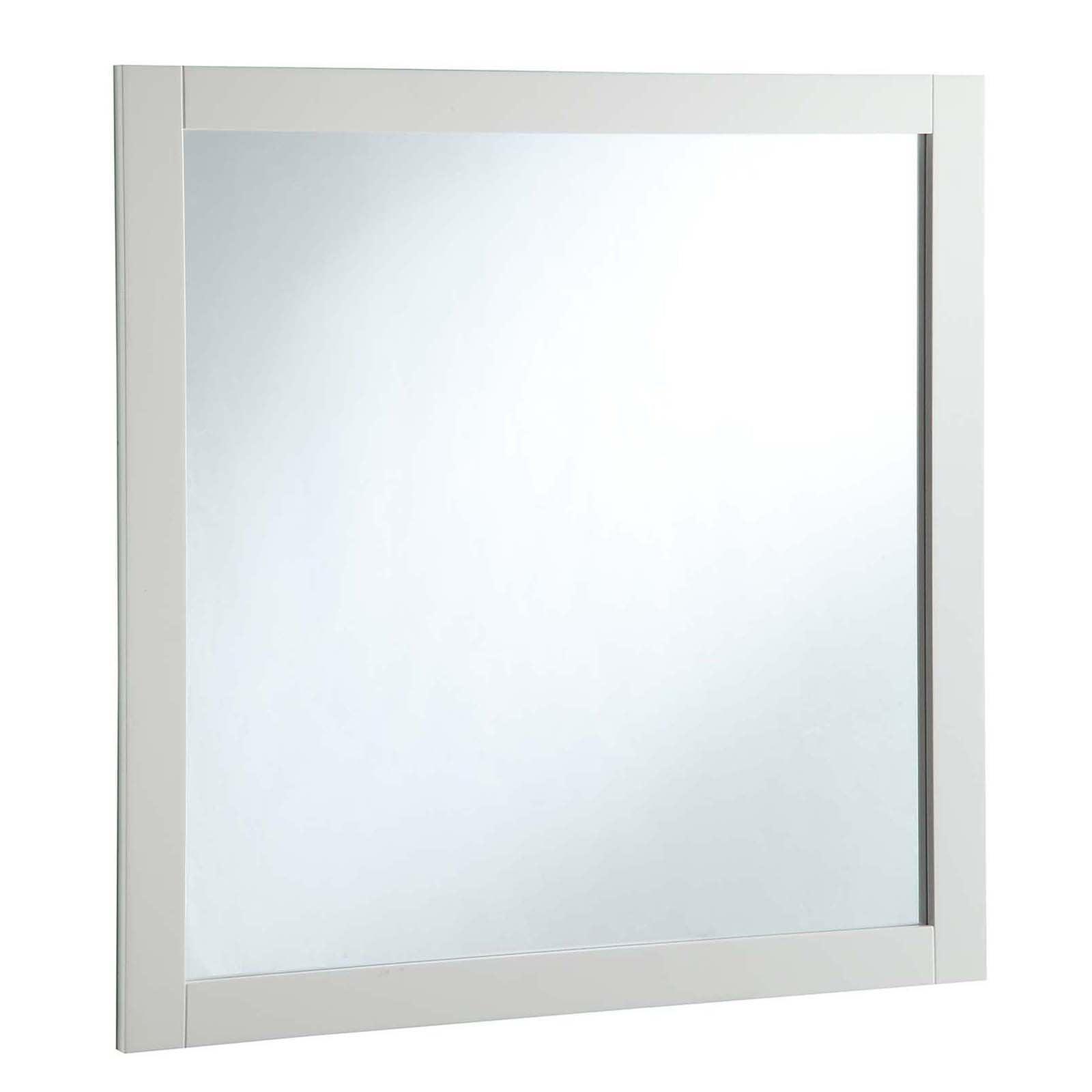 "Design House 547224 30"" x 30"" Vanity Mirror, Semi-Gloss White by Design House"