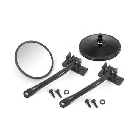 Quick Release Mirror Pair Kit for 97-18 Jeep Wrangler TJ-JK - Black - image 1 of 1