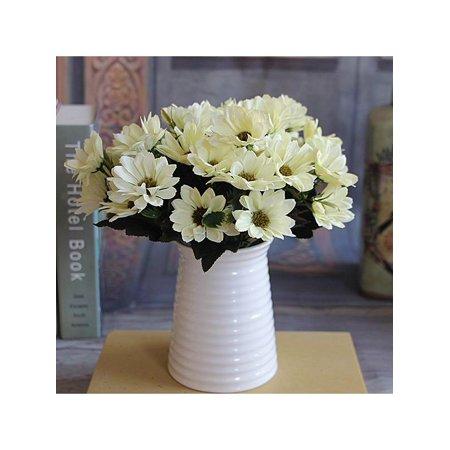 Lavaport 1 Bunch Artificial Bridal Daisy Flower Bouquet Home Garden Wedding Party Decoration (Blue Daisy Flower)
