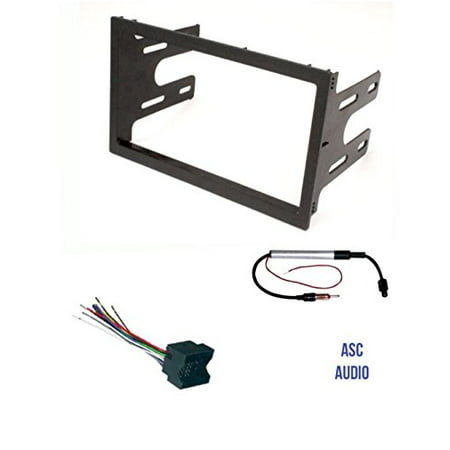 2003 2006 Body Dash Trim - ASC Audio Car Stereo Dash Kit, Wire Harness, and Antenna Adapter for installing a Double Din Radio for VW Volkswagen- 2003 2004 Jetta, 2003 2004 2005 2006 Golf, 2003 2004 2005 Passat
