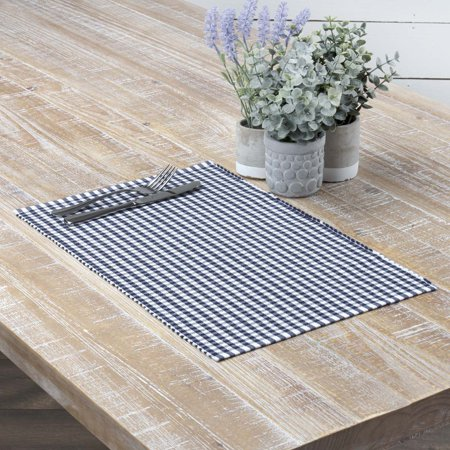 Red Round Placemats (Navy Blue Farmhouse Tabletop Kitchen Tara Cotton Plaid Rectangle Placemat Set of)
