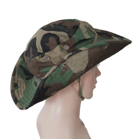 eb2acac80 Canvas Military Camouflage Bucket Hats Camo Fisherman Hats With Wide ...