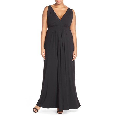 3ce5b8ced8dc Tart NEW Black Womens Size 4X Plus Empire Waist Jersey Knit Maxi Dress