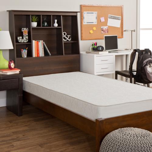Select Luxury  Dorm Flippable 7.5-inch Medium Firm Twin-size Foam Mattress - WHITE