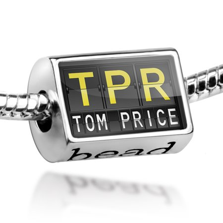 Bead Tpr Airport Code For Tom Price Charm Fits All European Bracelets