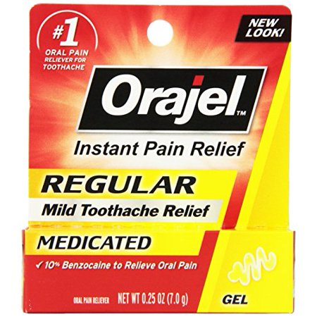 2 Pack - Orajel régulier doux Toothache Relief Gel médicamenté Chaque 0,25 oz