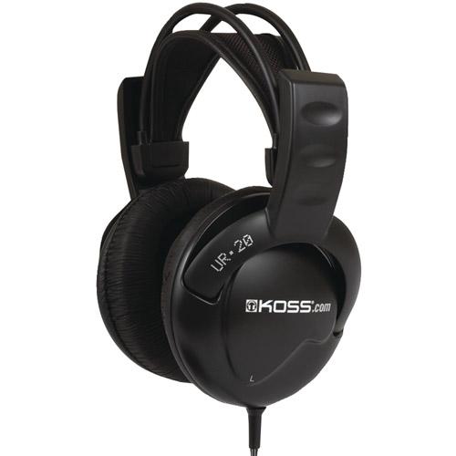 Koss UR20 Full-Size Over-The-Ear Headphones, Black