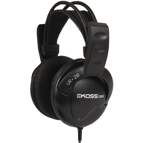 Koss UR20 Full-Size Over-The-Ear Headphones, Black