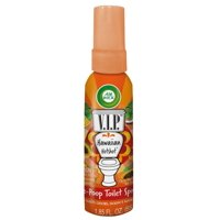 Air Wick V.I.P. Pre-Poop Toilet Spray, Up to 100 Uses, Contains Essential Oils, Hawaiian Hotshot Scent, Travel size, 1.85 oz