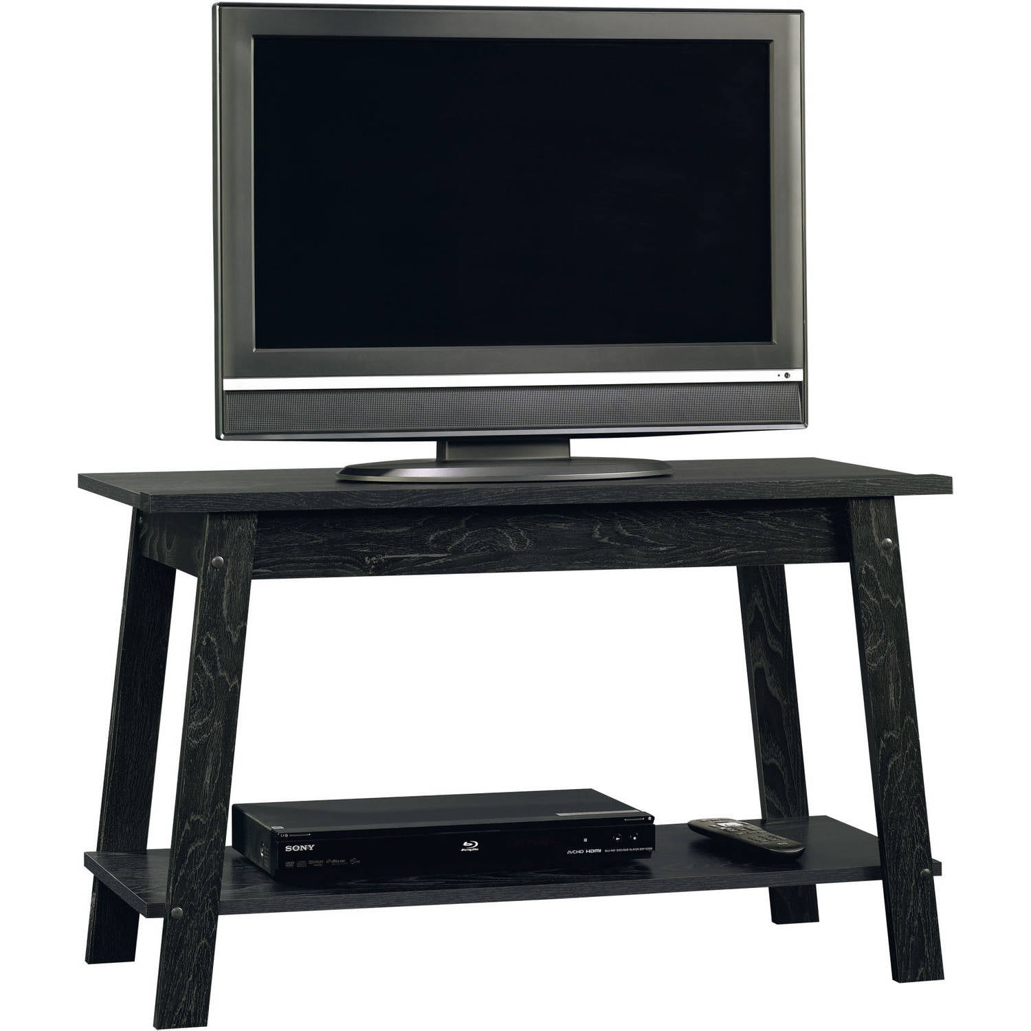 sauder beginnings ebony ash tv stand fo walmartcom - Walmart Small Tv Stands